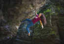 Daniela Feroleto che fa un duro Boulder strapiombante