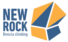 Logo della palestra d'arrampicata New Rock che si trova a Brescia